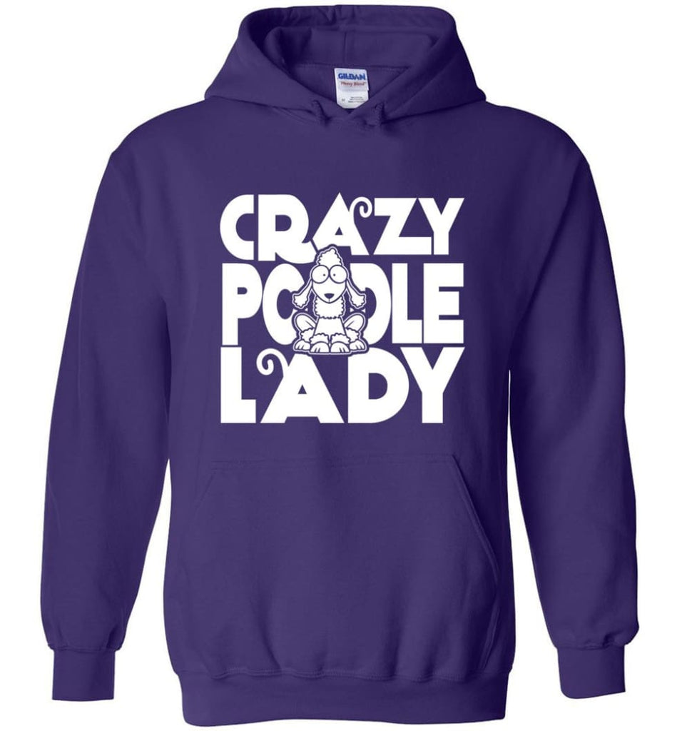 Crazy Poodle Lady Sweater Funny Dog Poodle sweatshirt for Women - Hoodie - Purple / M