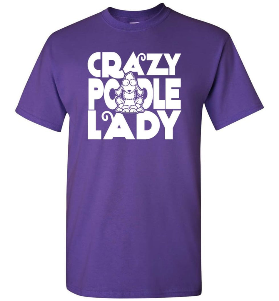 Crazy Poodle Lady Sweater Funny Dog Poodle Sweatshirt For Women T-Shirt - Purple / S