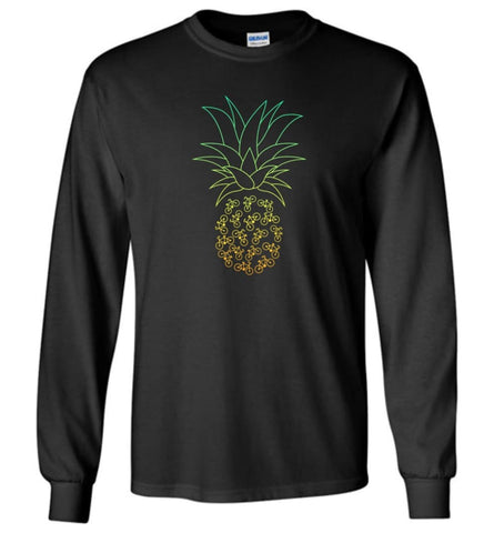 Cyclelogical Pineapple Bike Bicycle Graphic - Long Sleeve - Black / M - Long Sleeve