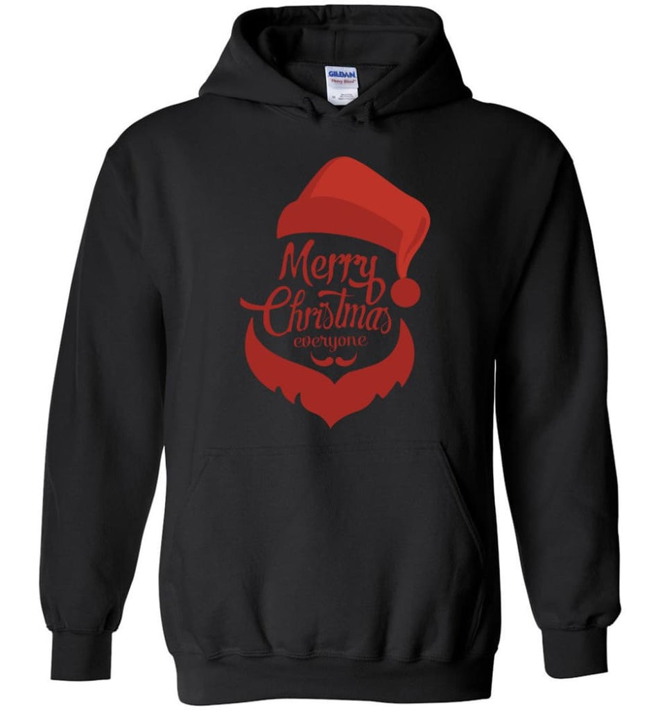 Dabbing Santa Christmas Sweater Merry Christmas Everyone Christmas Pregnancy Shirts - Hoodie - Black / M