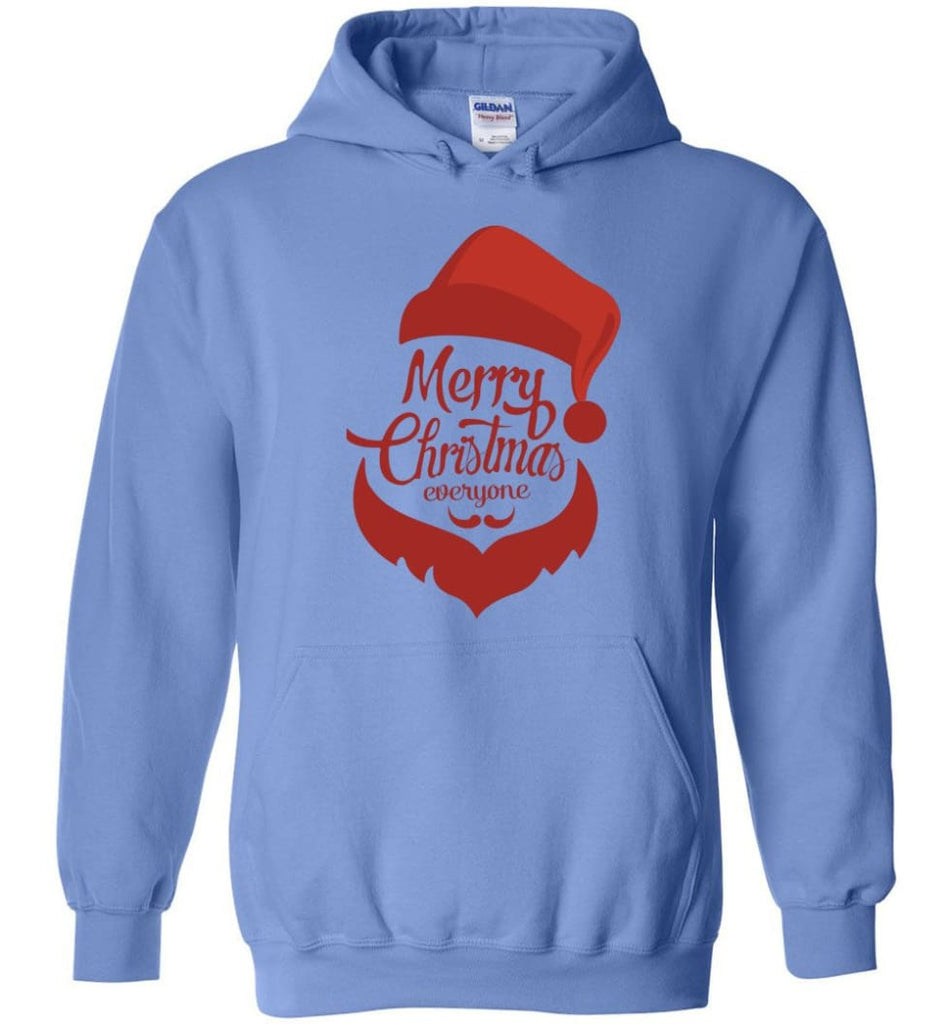 Dabbing Santa Christmas Sweater Merry Christmas Everyone Christmas Pregnancy Shirts - Hoodie - Carolina Blue / M