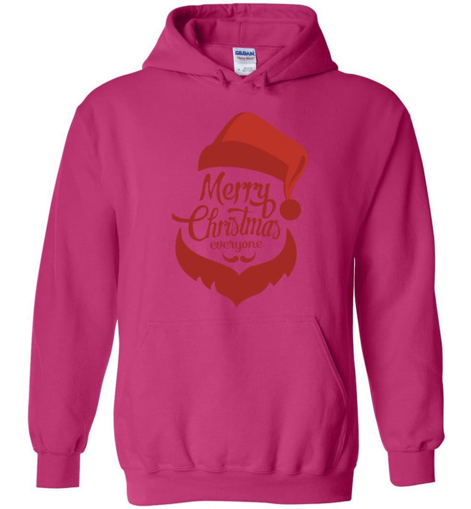 Dabbing Santa Christmas Sweater Merry Christmas Everyone Christmas Pregnancy Shirts - Hoodie - Heliconia / M