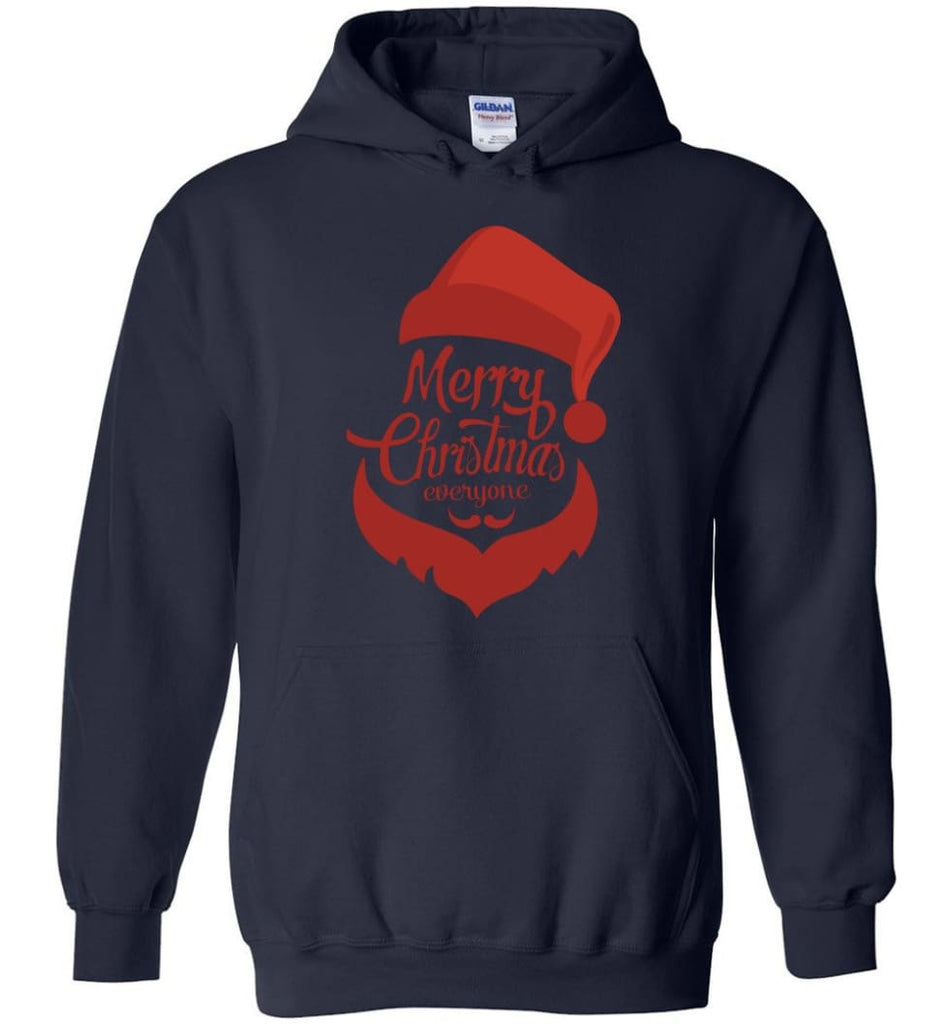 Dabbing Santa Christmas Sweater Merry Christmas Everyone Christmas Pregnancy Shirts - Hoodie - Navy / M