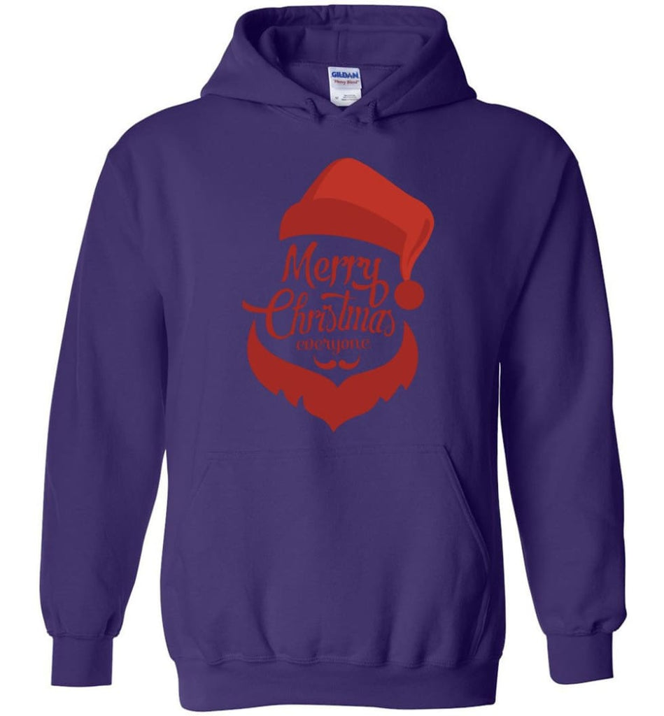 Dabbing Santa Christmas Sweater Merry Christmas Everyone Christmas Pregnancy Shirts - Hoodie - Purple / M