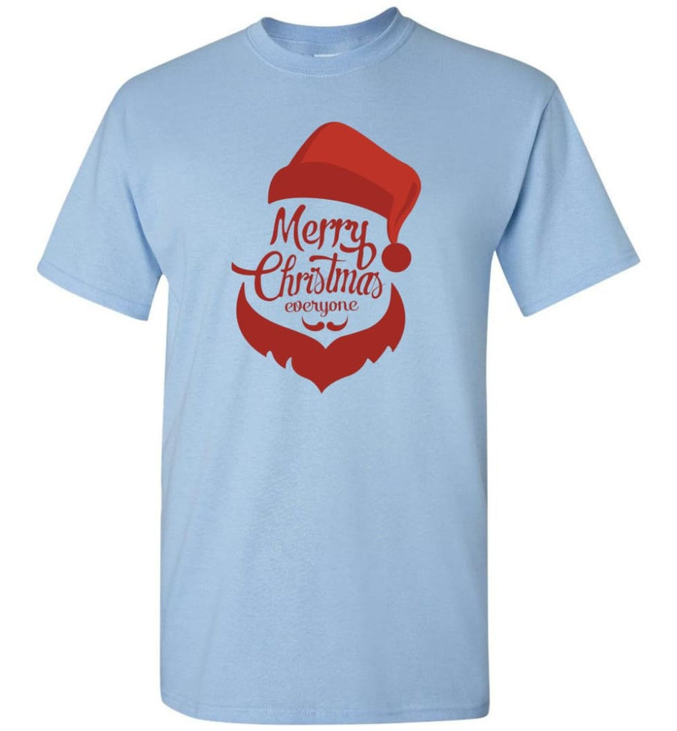 Dabbing Santa Christmas Sweater Merry Christmas Everyone Christmas Pregnancy Shirts - T-Shirt - Light Blue / S