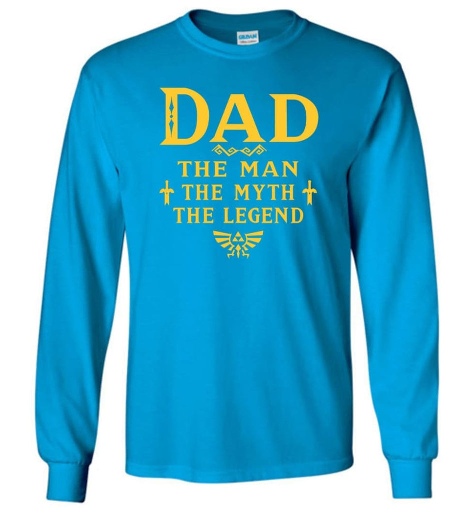 Dad The Man Myth The Legend Christmas Gift For Dad Father Long Sleeve - Sapphire / M