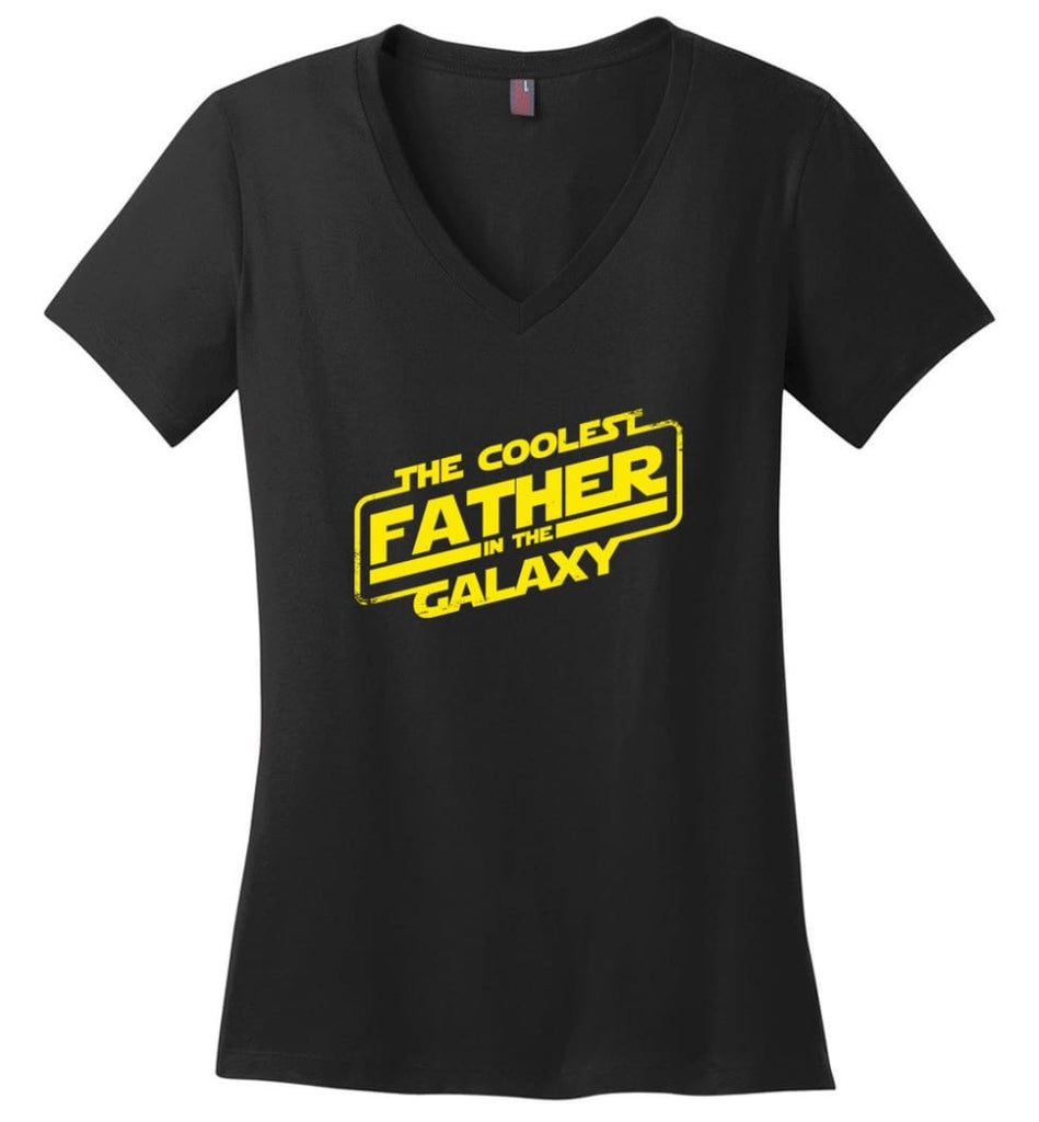 Daddy Favourite Jedi Daddy Shirt For Father's Day Ladies V-Neck - Black / M