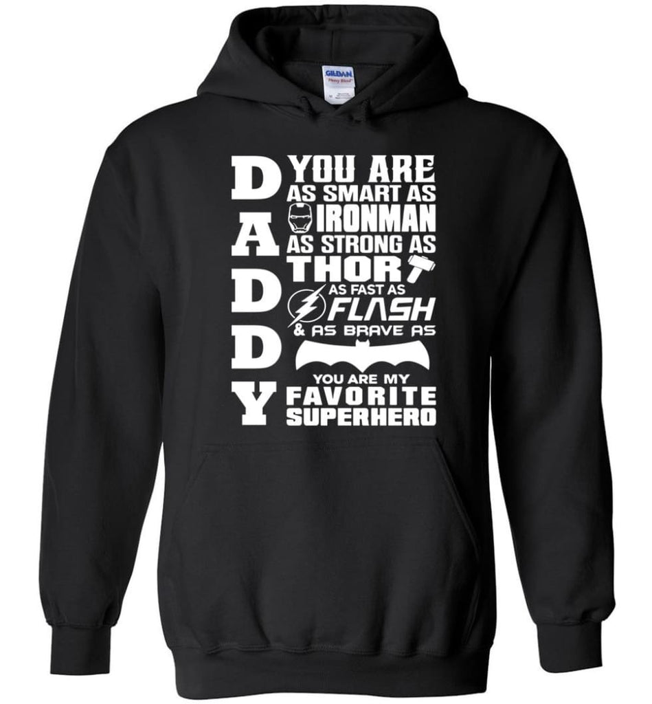 Daddy Superhero Shirt Daddy Shirt For Father's Day Hoodie - Black / M