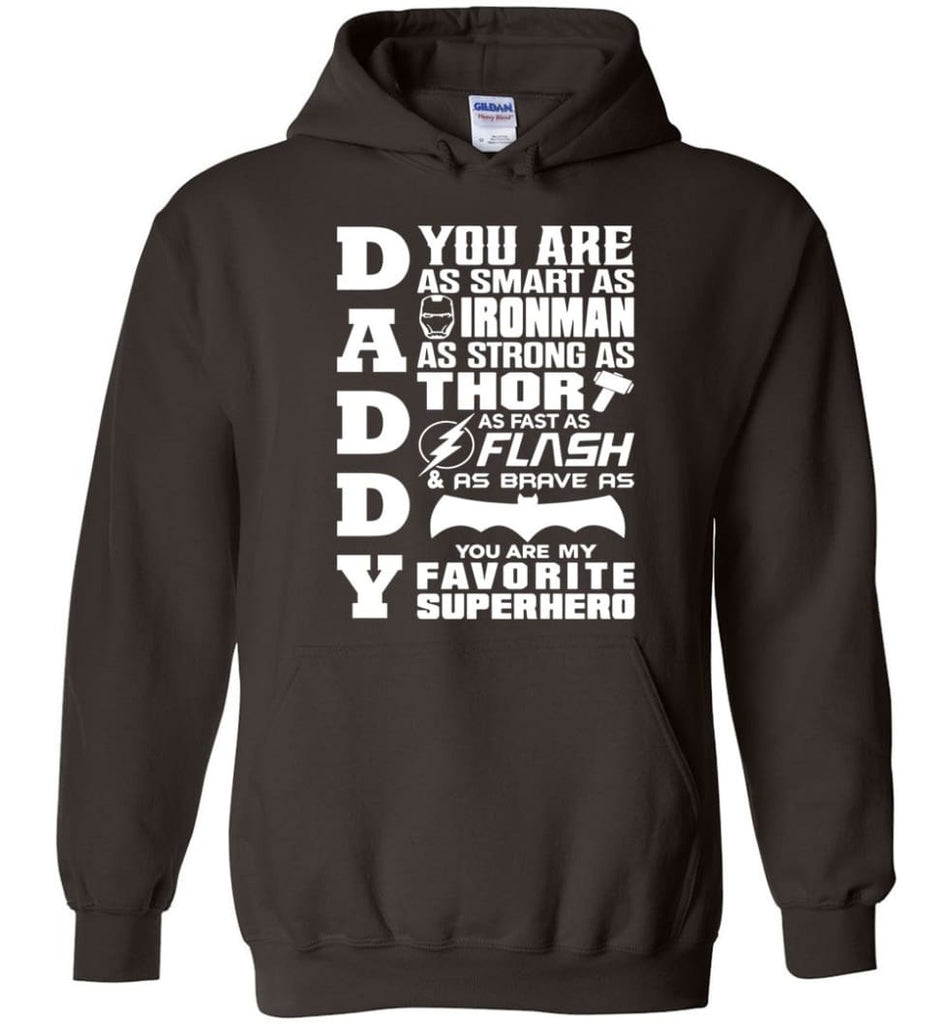 Daddy Superhero Shirt Daddy Shirt For Father's Day Hoodie - Dark Chocolate / M