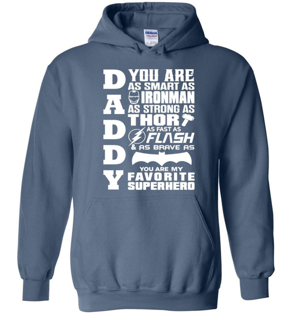 Daddy Superhero Shirt Daddy Shirt For Father's Day Hoodie - Indigo Blue / M