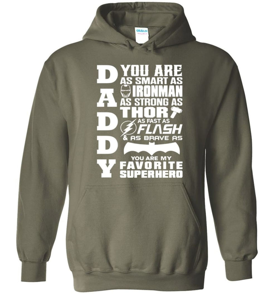Daddy Superhero Shirt Daddy Shirt For Father's Day Hoodie - Military Green / M