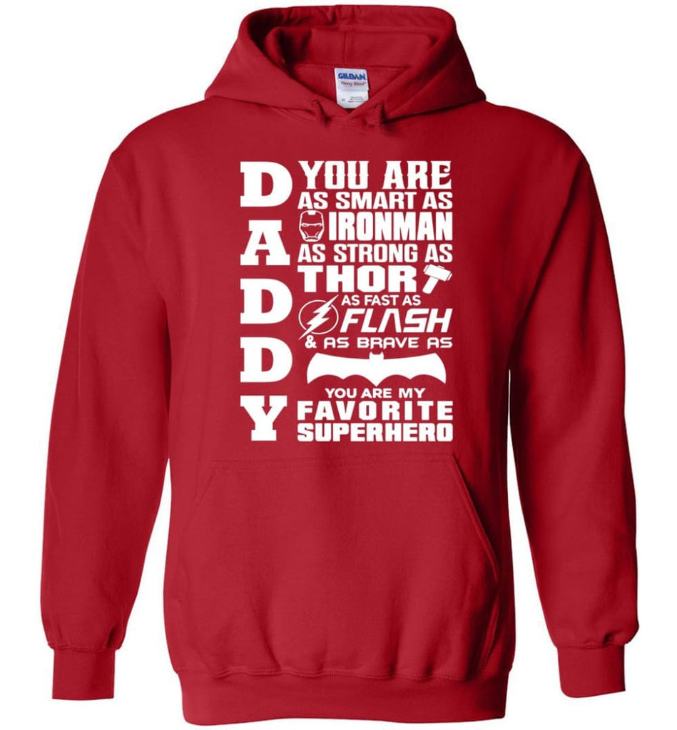 Daddy Superhero Shirt Daddy Shirt For Father's Day Hoodie - Red / M