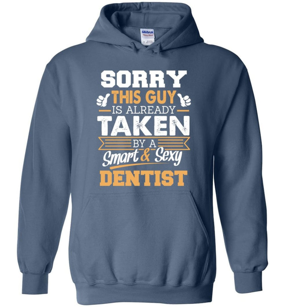Dentist Shirt Cool Gift for Boyfriend Husband or Lover - Hoodie - Indigo Blue / M