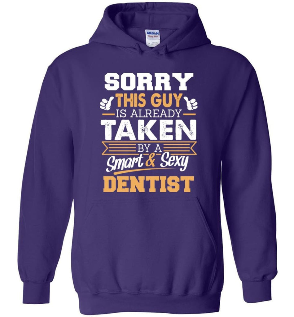 Dentist Shirt Cool Gift for Boyfriend Husband or Lover - Hoodie - Purple / M