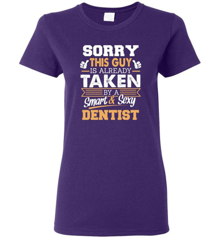 Dentist Shirt Cool Gift for Boyfriend Husband or Lover Women Tee - Purple / M - 8