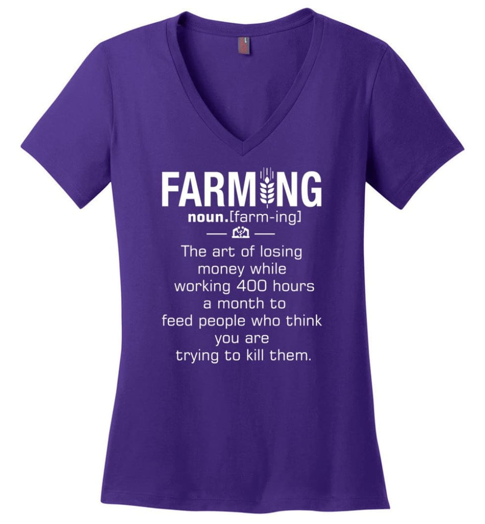 District Manager Definition Meaning Ladies V-Neck - Purple / M