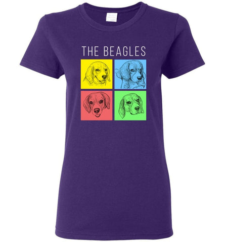 Dog Lovers Shirt The Beagles Style Women Tee - Purple / M