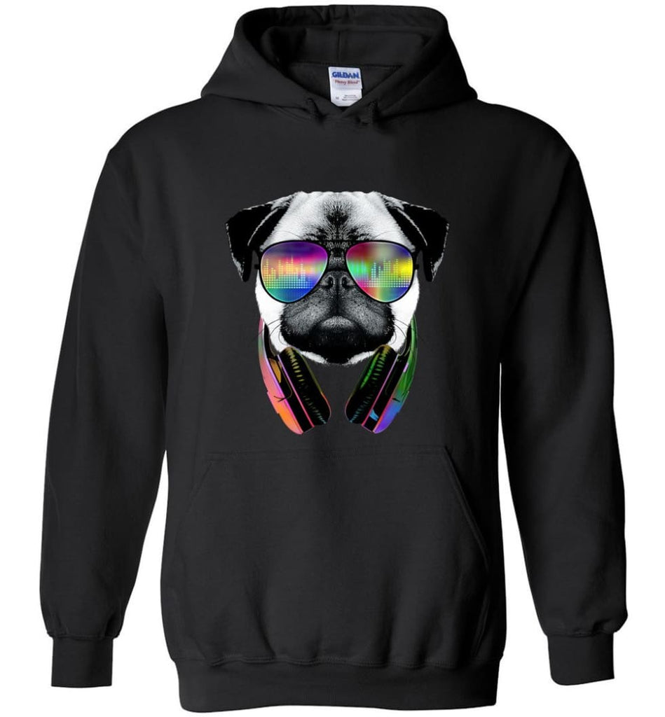 Dog Music Shirt With Dog On It Dog Face T Shirts Funny Dog Band Sweaters - Hoodie - Black / M