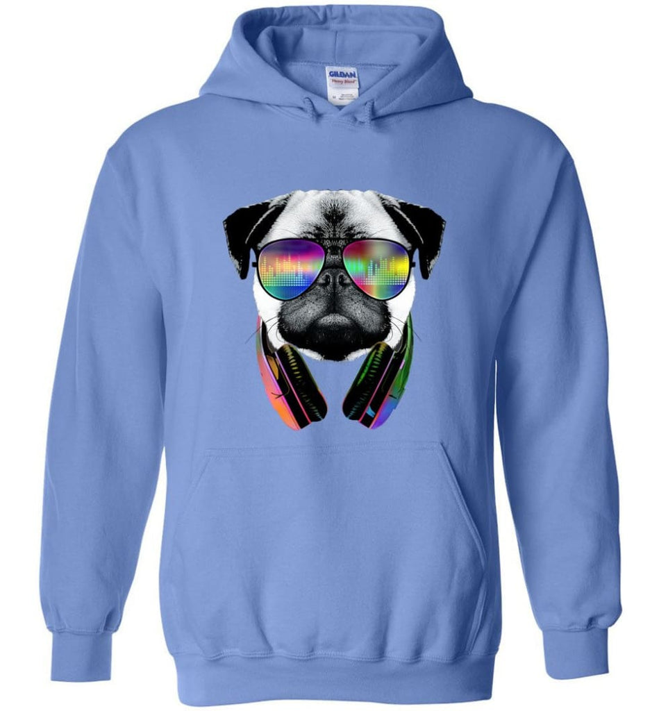Dog Music Shirt With Dog On It Dog Face T Shirts Funny Dog Band Sweaters - Hoodie - Carolina Blue / M