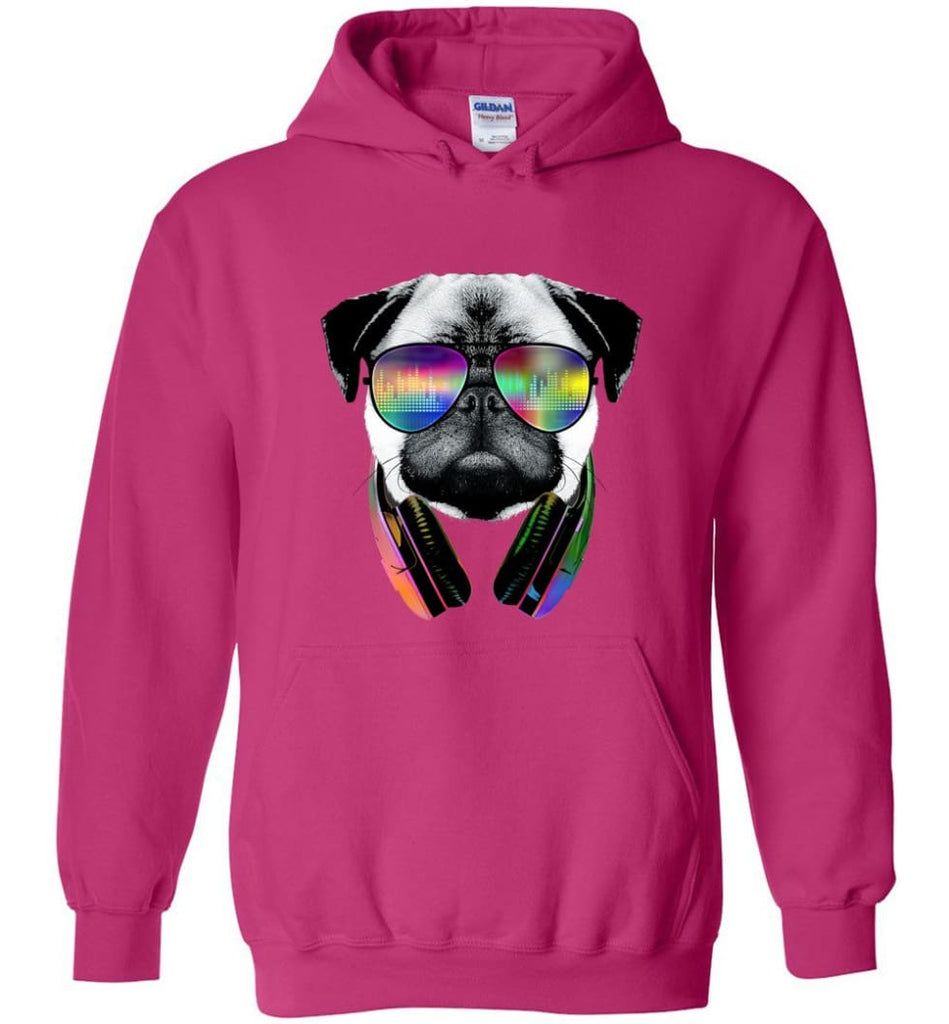 Dog Music Shirt With Dog On It Dog Face T Shirts Funny Dog Band Sweaters - Hoodie - Heliconia / M