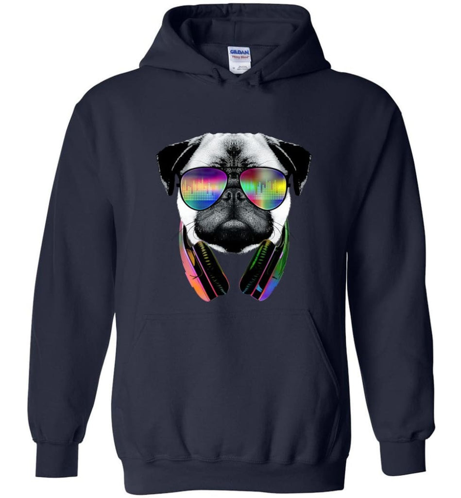 Dog Music Shirt With Dog On It Dog Face T Shirts Funny Dog Band Sweaters - Hoodie - Navy / M