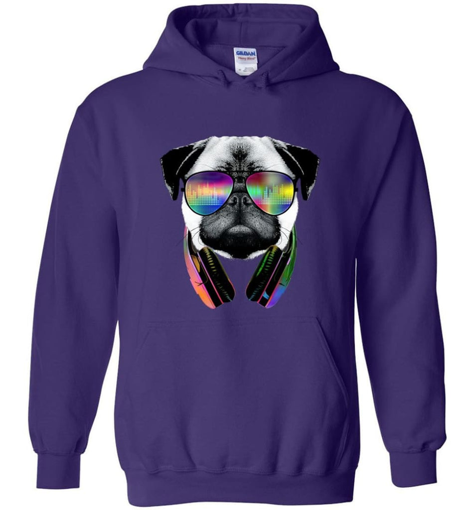 Dog Music Shirt With Dog On It Dog Face T Shirts Funny Dog Band Sweaters - Hoodie - Purple / M