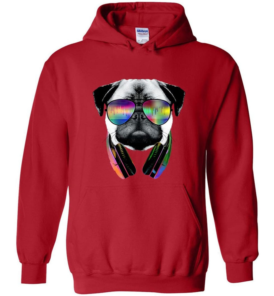 Dog Music Shirt With Dog On It Dog Face T Shirts Funny Dog Band Sweaters - Hoodie - Red / M