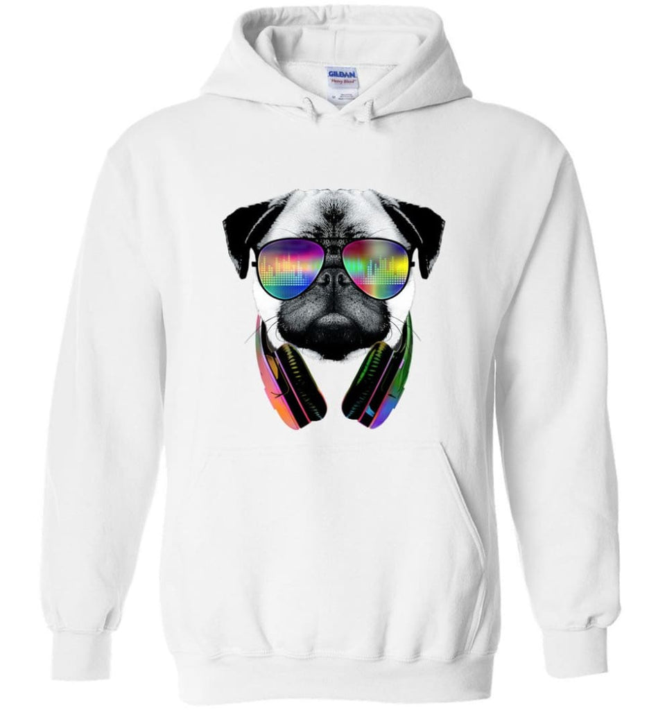 Dog Music Shirt With Dog On It Dog Face T Shirts Funny Dog Band Sweaters - Hoodie - White / M