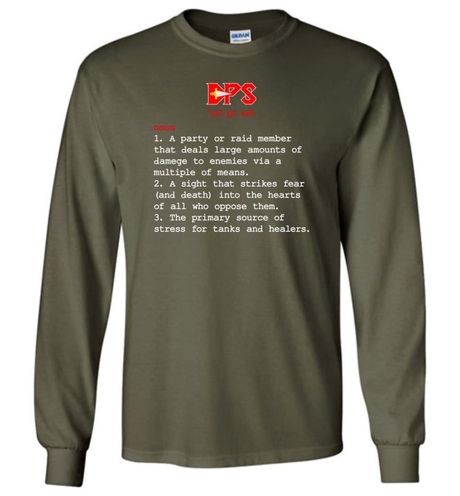 Dps Definition Dps Meaning - Long Sleeve T-Shirt - Military Green / M