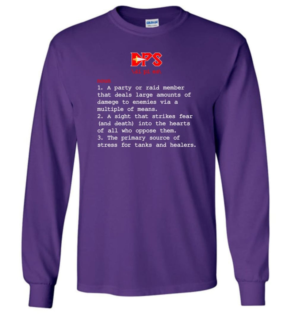Dps Definition Dps Meaning - Long Sleeve T-Shirt - Purple / M