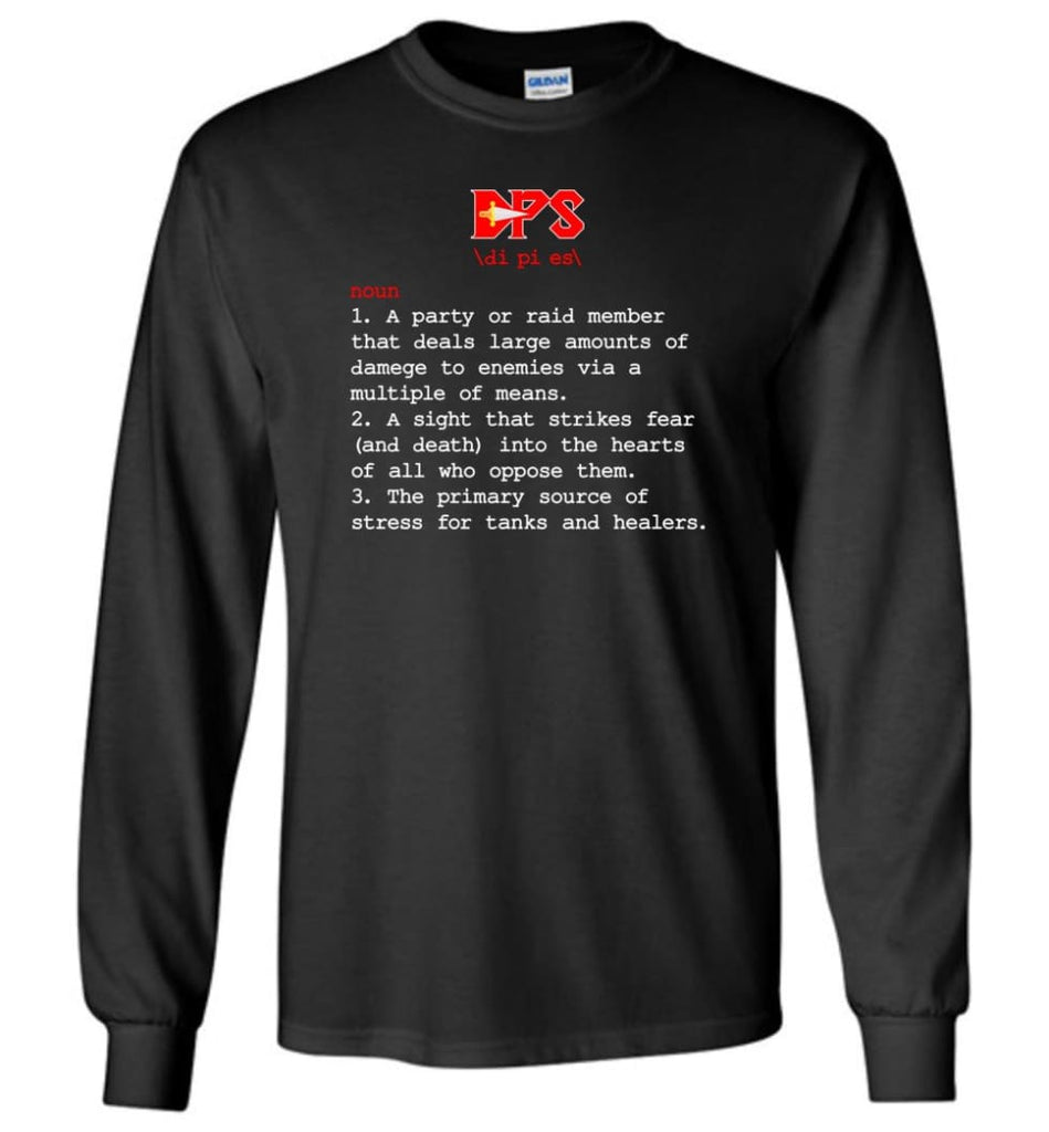 Dps Definition Dps Meaning Long Sleeve T-Shirt - Black / M