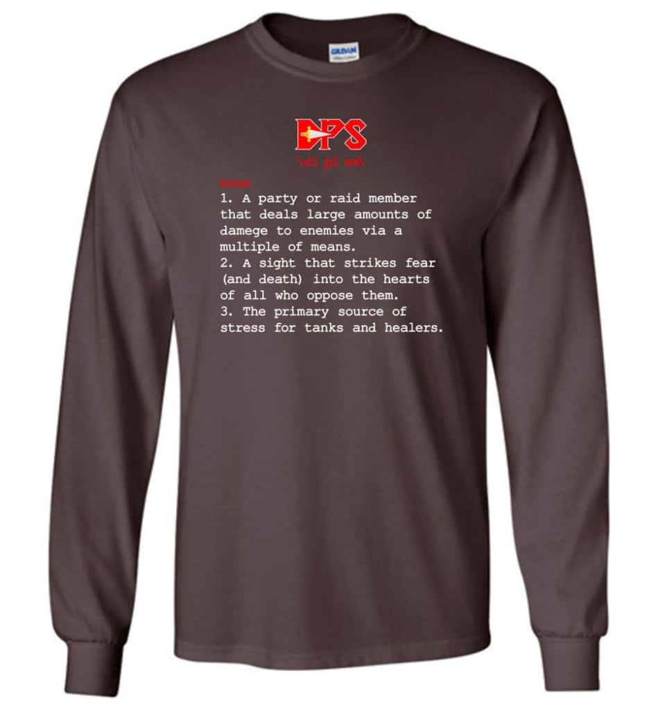 Dps Definition Dps Meaning Long Sleeve T-Shirt - Dark Chocolate / M