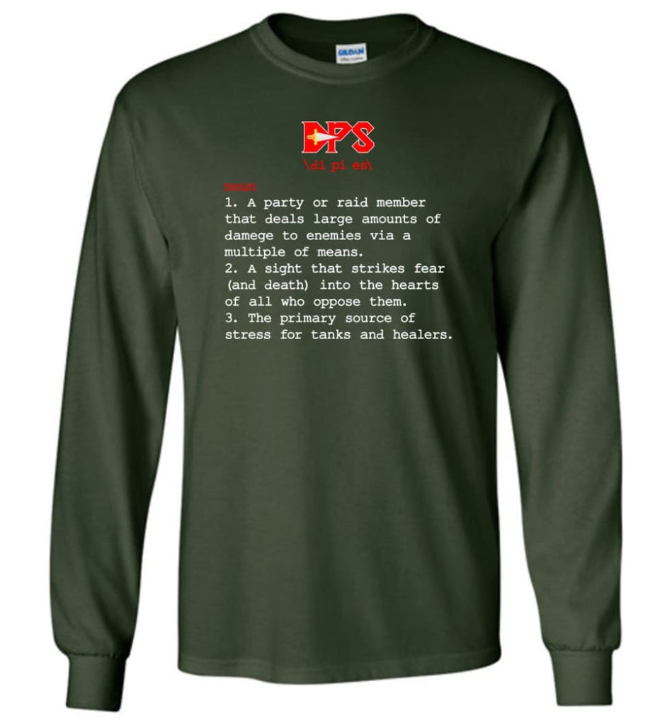 Dps Definition Dps Meaning Long Sleeve T-Shirt - Forest Green / M