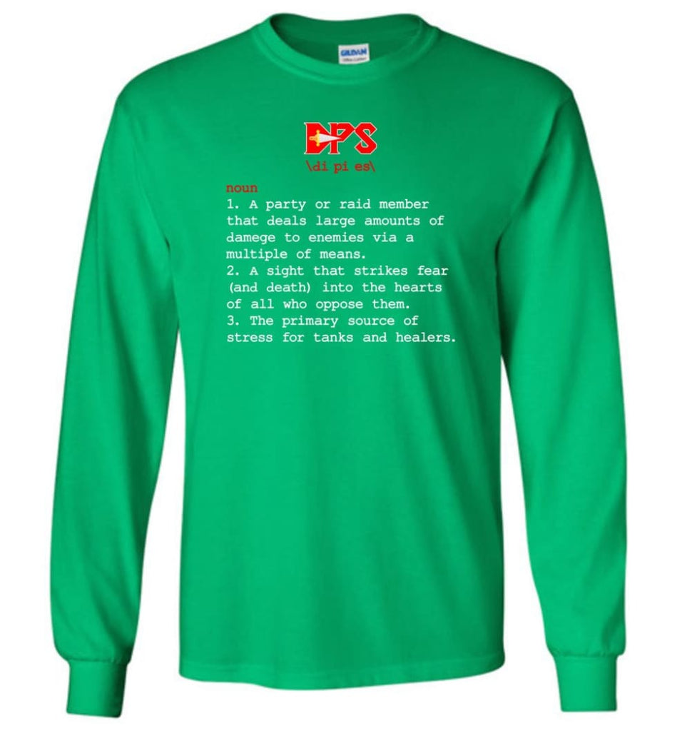 Dps Definition Dps Meaning Long Sleeve T-Shirt - Irish Green / M