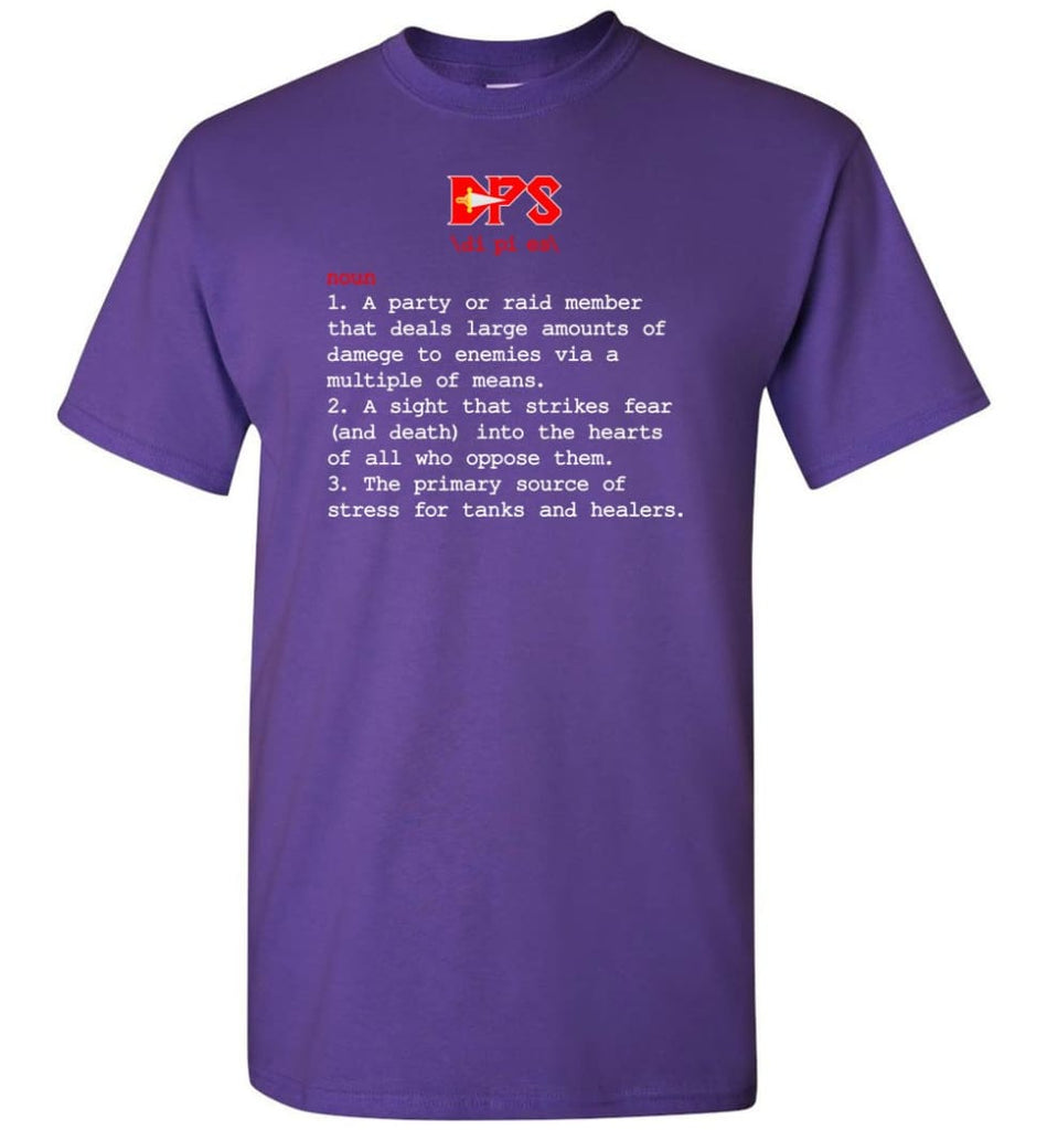 Dps Definition Dps Meaning T-Shirt - Purple / S
