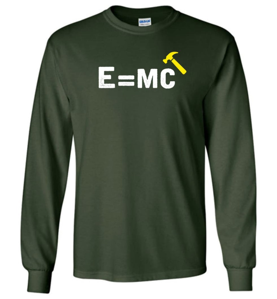 E Mc Hamme Funny Math Long Sleeve - Forest Green / M