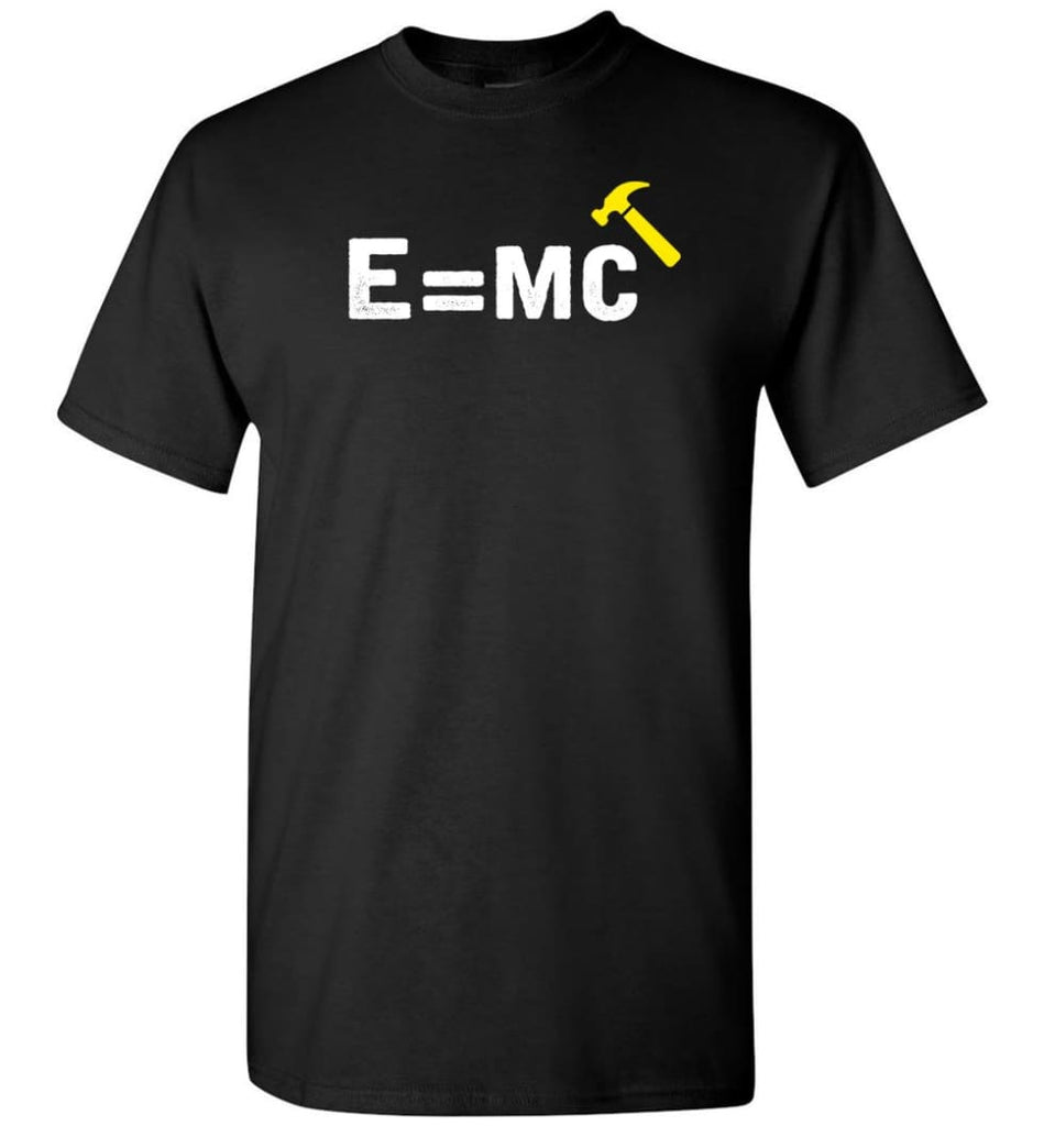 E Mc Hamme Funny Math T-Shirt - Black / S