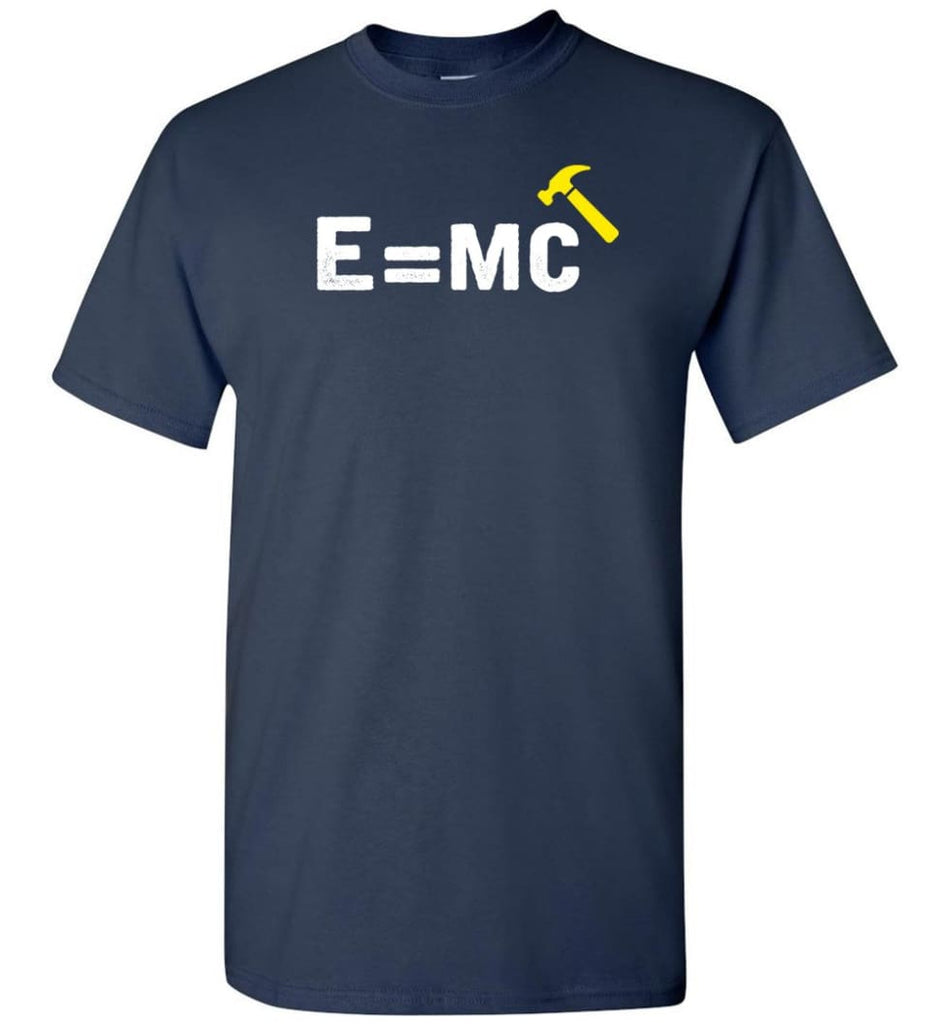 E Mc Hamme Funny Math T-Shirt - Navy / S