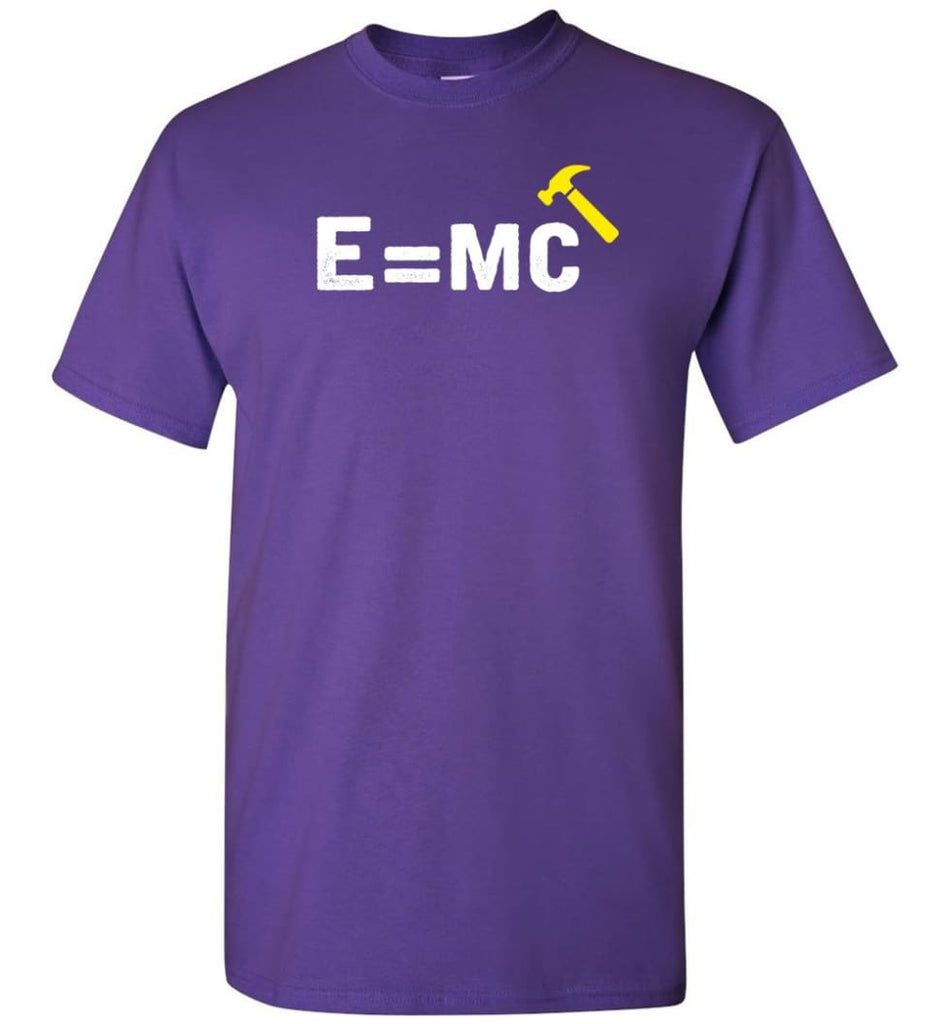 E Mc Hamme Funny Math T-Shirt - Purple / S