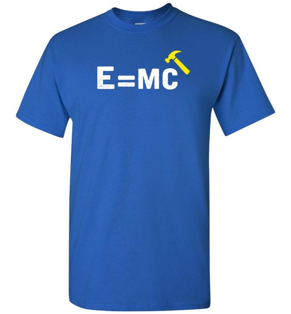 E Mc Hamme Funny Math T-Shirt - Royal / S