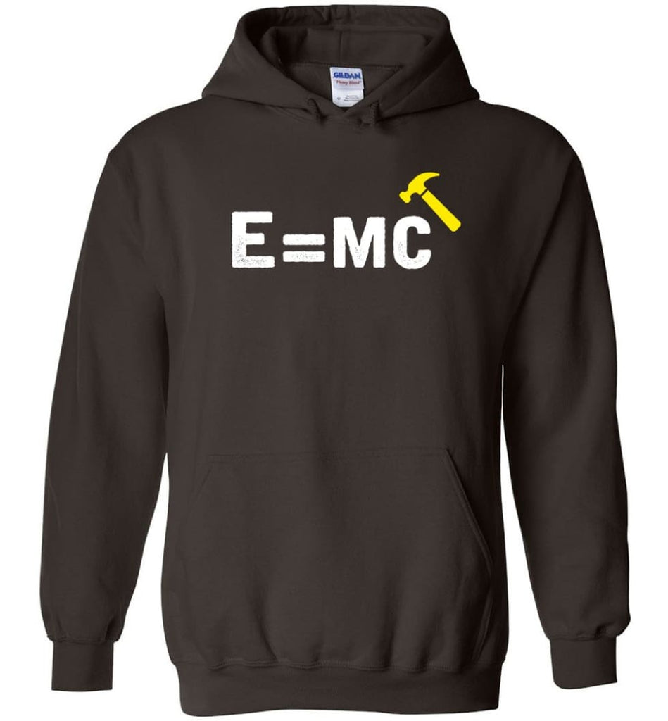 E= Mc Hamme Hoodie - Dark Chocolate / M