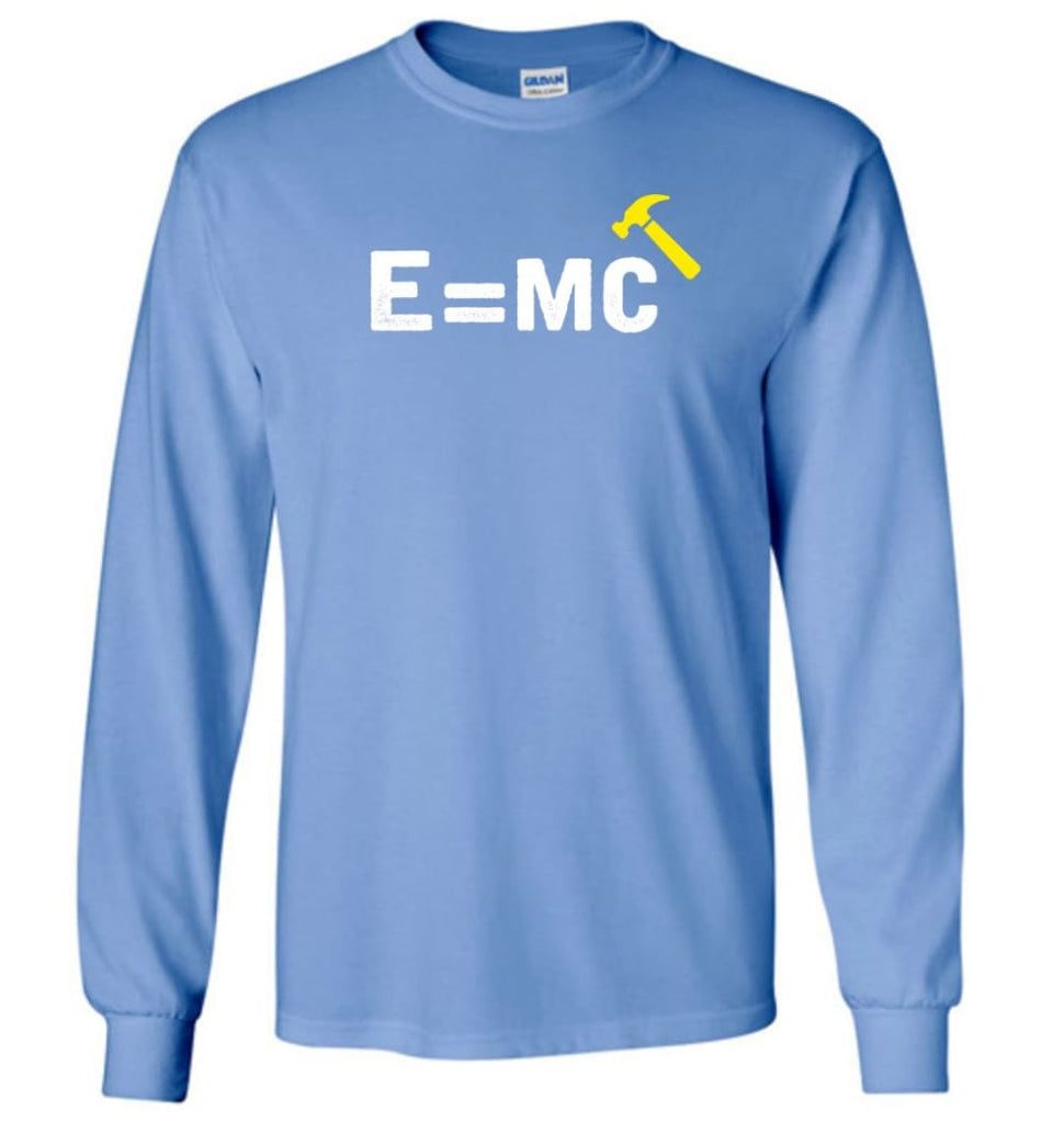 E= Mc Hamme Long Sleeve T-Shirt - Carolina Blue / M