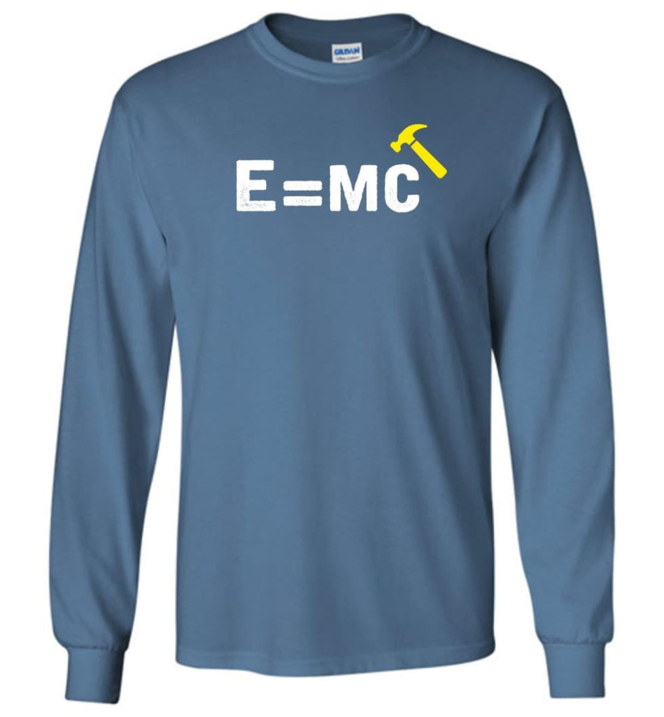 E= Mc Hamme Long Sleeve T-Shirt - Indigo Blue / M