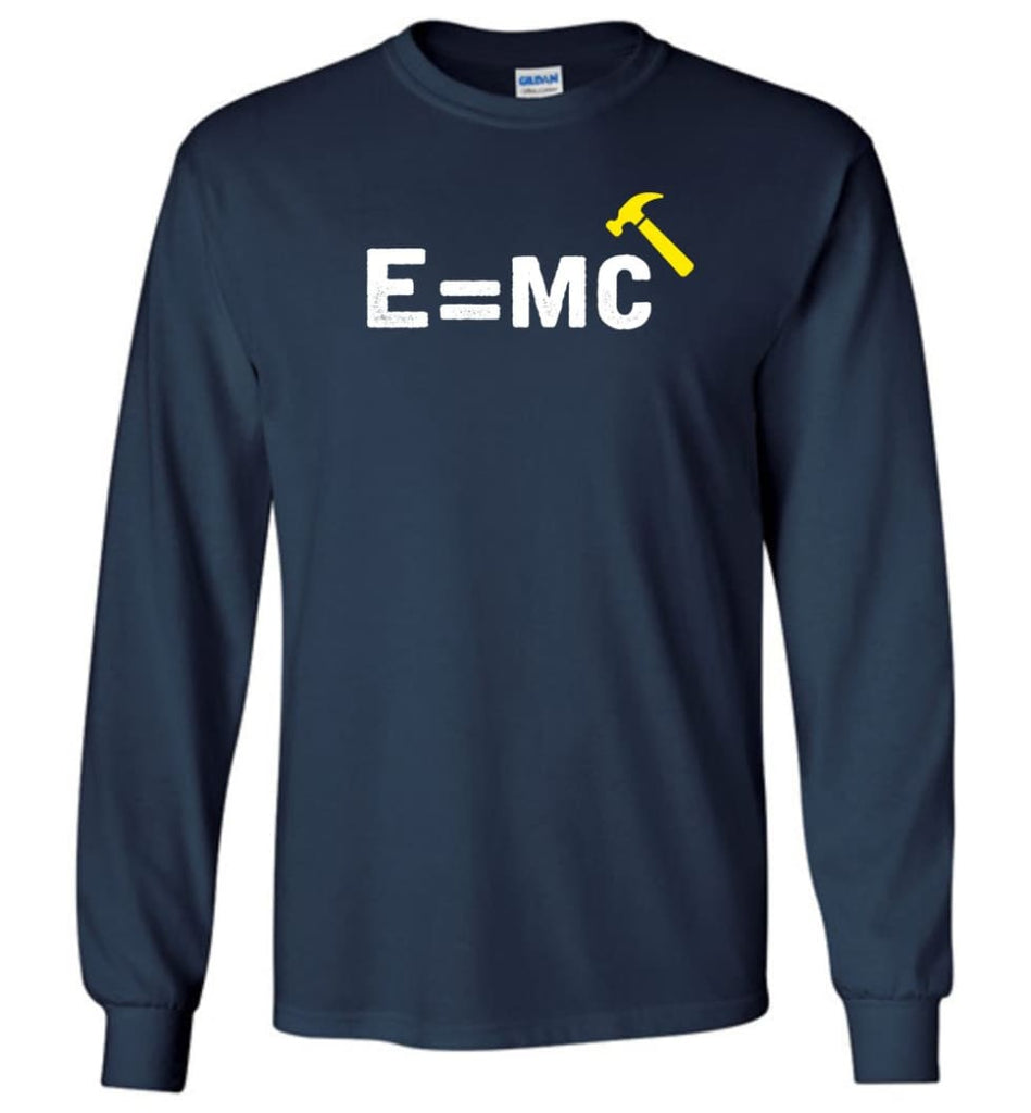 E= Mc Hamme Long Sleeve T-Shirt - Navy / M