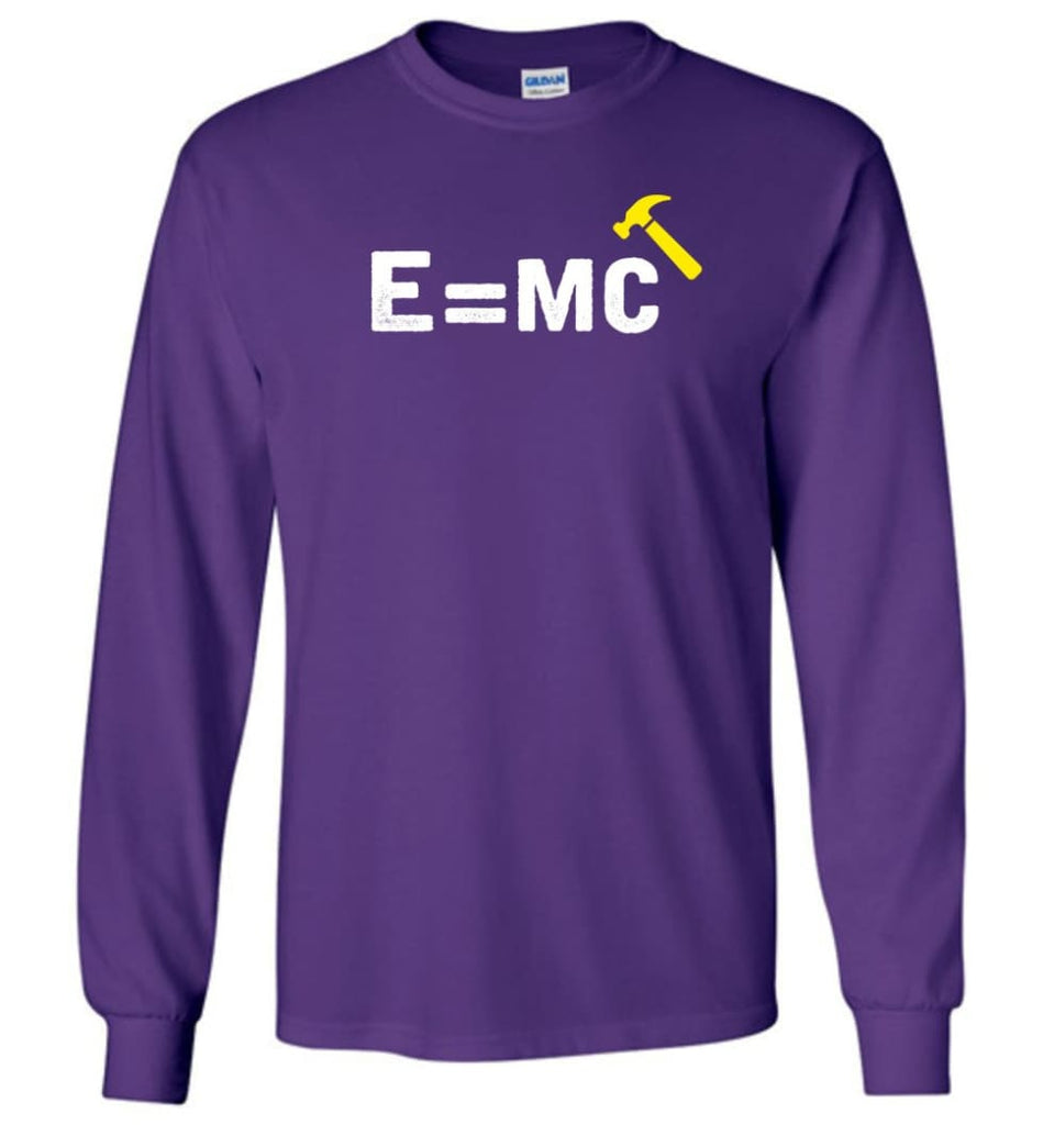 E= Mc Hamme Long Sleeve T-Shirt - Purple / M