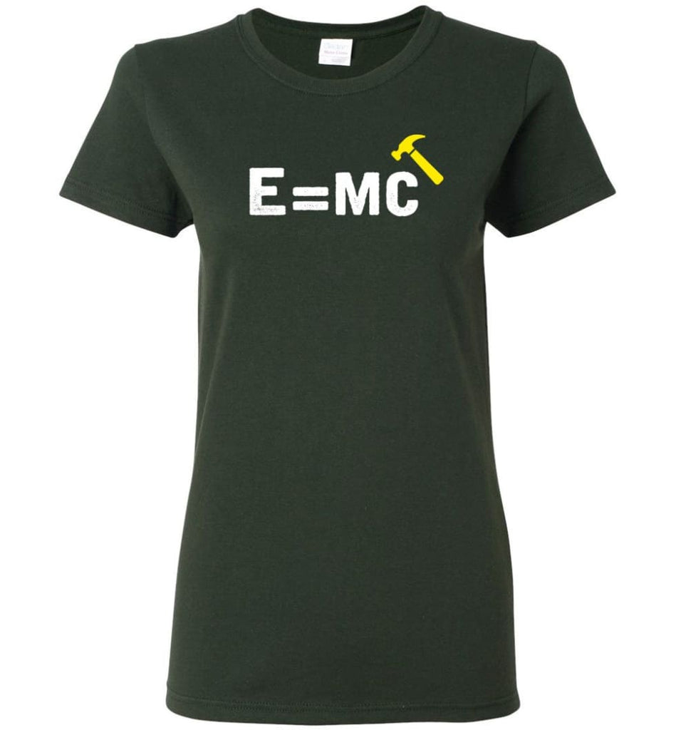 E= Mc Hamme Women Tee - Forest Green / M