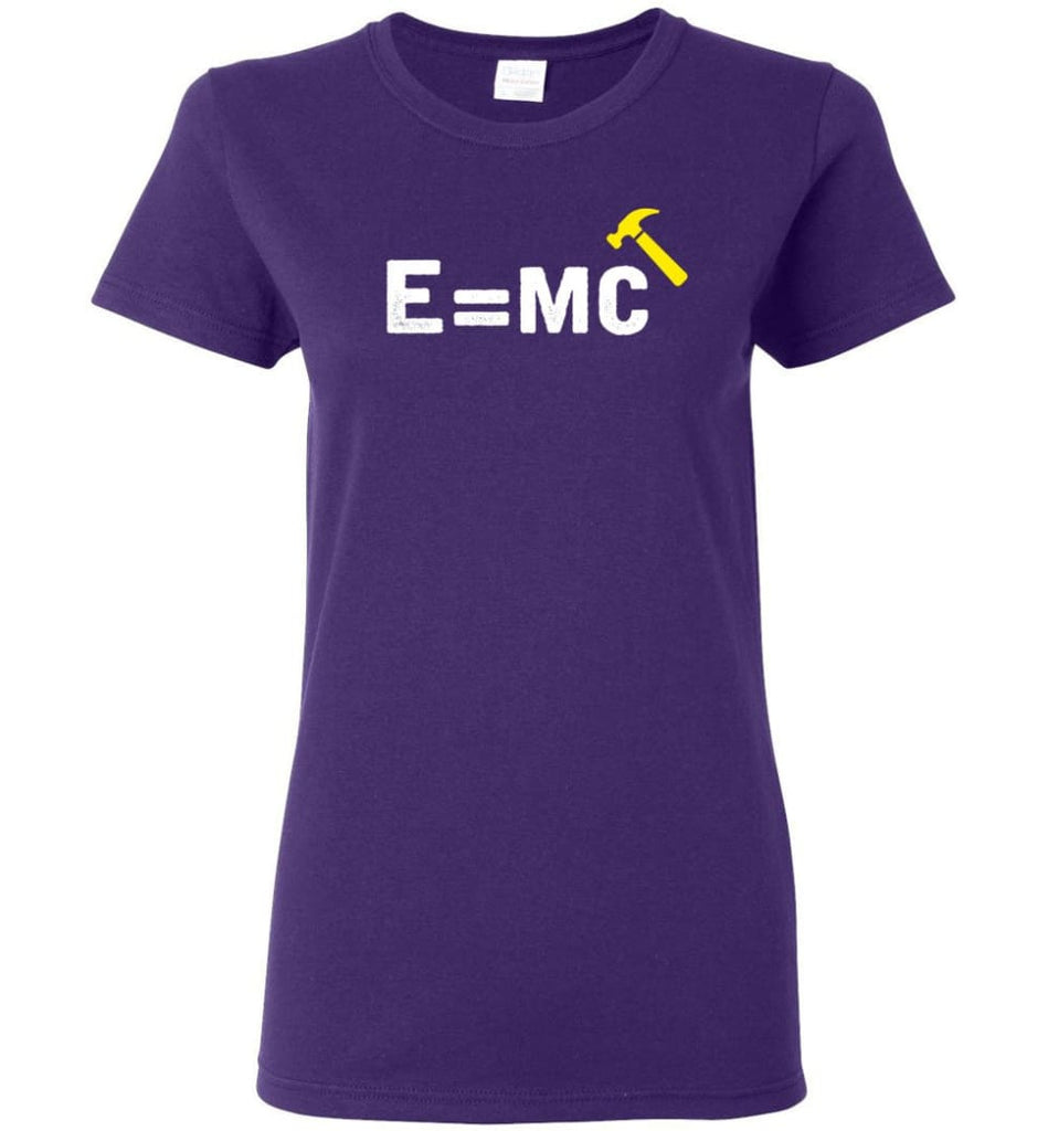 E= Mc Hamme Women Tee - Purple / M