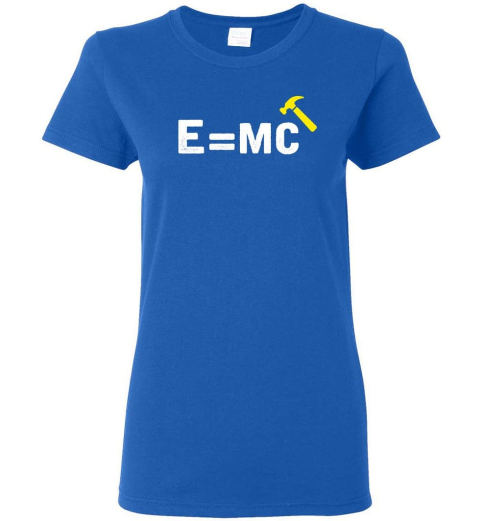 E= Mc Hamme Women Tee - Royal / M