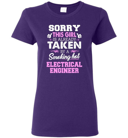 Electrical Engineer Shirt Cool Gift for Girlfriend Wife or Lover Women Tee - Purple / M - 11