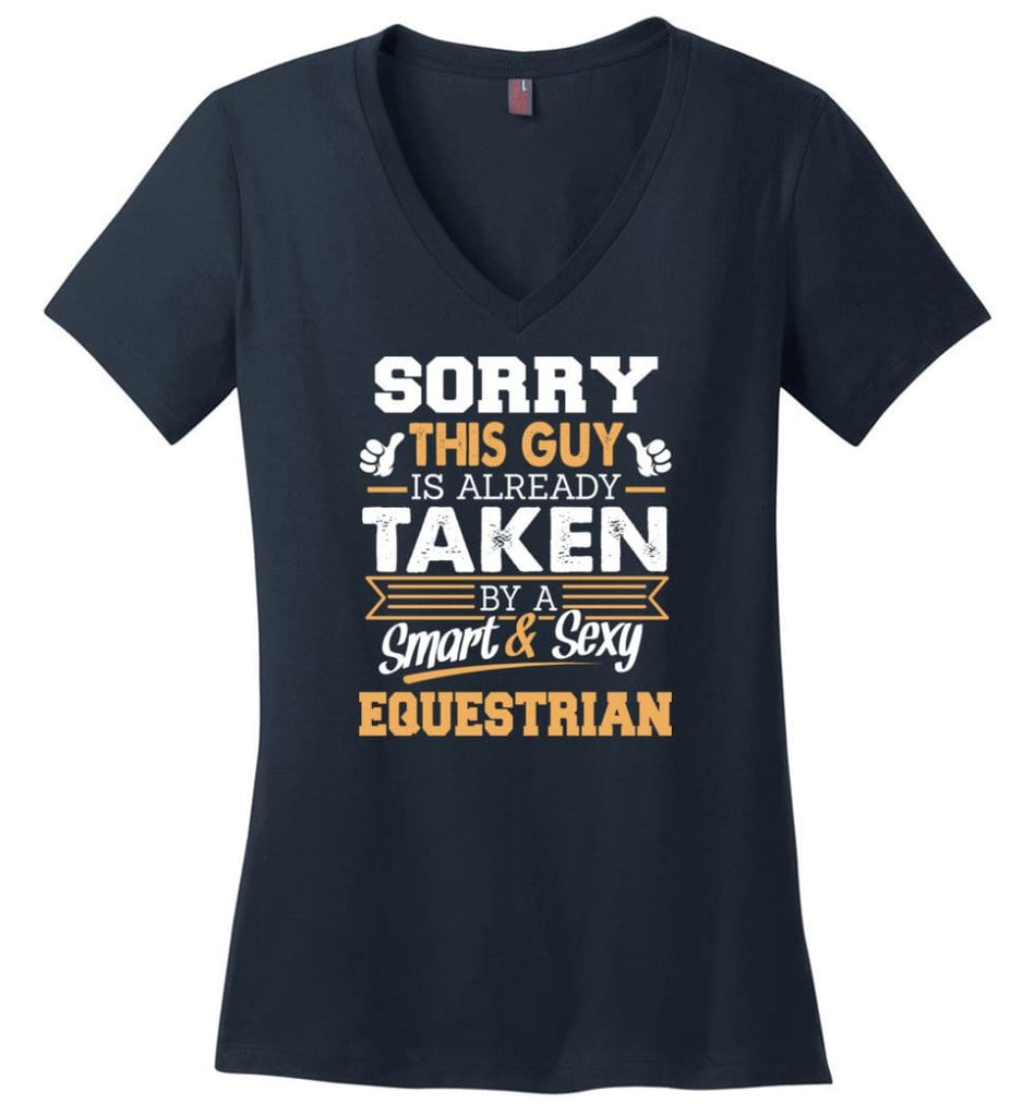Electronic Engineer Shirt Cool Gift for Boyfriend Husband or Lover Ladies V-Neck - Navy / M - 11